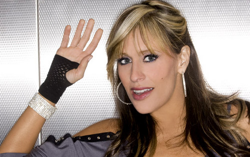 Lilian Garcia wallpaper containing a portrait called Lilian Garcia Photoshoot Flashback