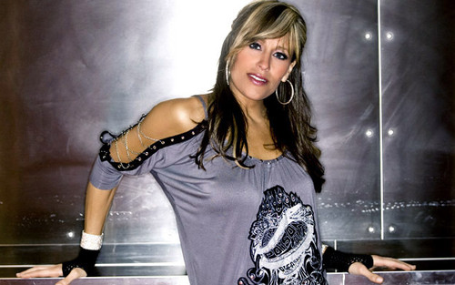Lilian Garcia wallpaper probably containing a top entitled Lilian Garcia Photoshoot Flashback