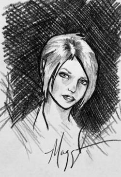 Maggie's sketch of Isabel!