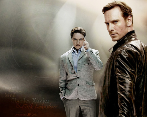 James McAvoy and Michael Fassbender wallpaper containing a well dressed person called McFassy