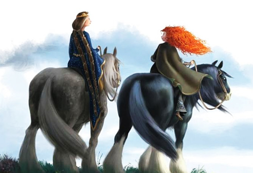 Ribelle - The Ribelle - The Brave wallpaper called Merida and Elinor