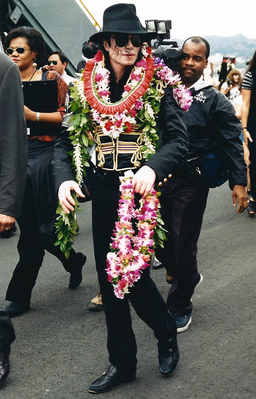 Michael Arriving In Hawaii Back In 1997