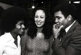 Michael Talking With Boxing Legend, Muhammad Ali And Former Wife,Veronica