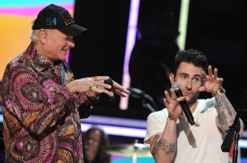 Mike Liebe teaches Adam Levine some pretty sweet moves.