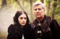 Mithian and her farther - merlin-on-bbc photo