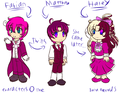 More OCs... Fabian, Matthew, and Haley - blazeandarose fan art