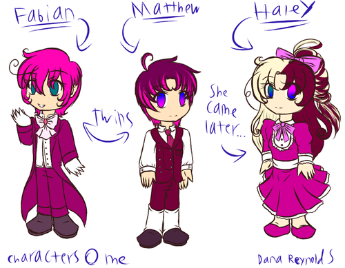 madami OCs... Fabian, Matthew, and Haley