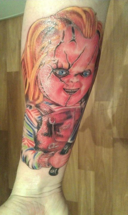 chucky tattoo. Black Bedroom Furniture Sets. Home Design Ideas