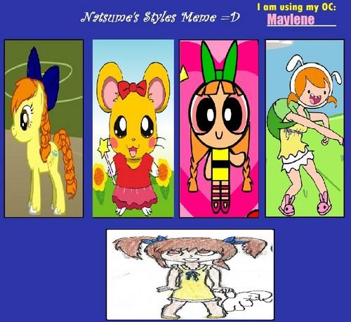 My Different Styles Meme: Maylene