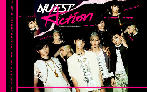 NU'EST پیپر وال probably with a bridesmaid and عملی حکمت entitled Nu'est