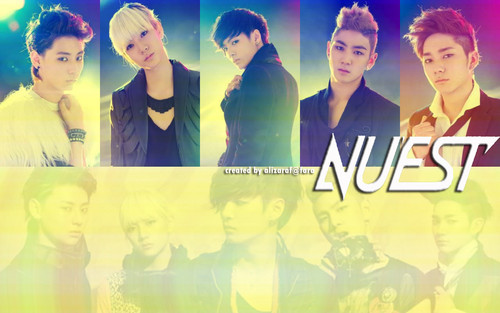 nu'est wallpaper probably with a portrait called Nu'est
