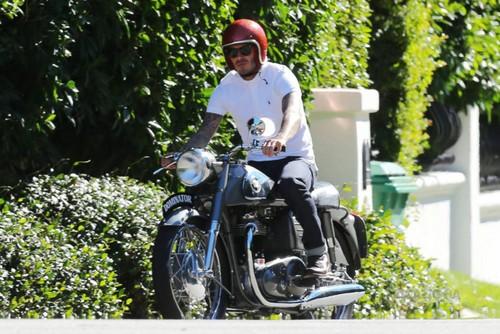 Oct. 25th - LA - David driving his motorcycle