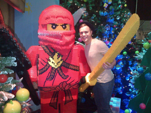Olly and lego man xD