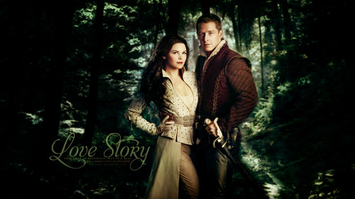 once upon a time wallpaper containing a sitka spruce, a douglas fir, and a ponderosa called Prince Charming & Snow White