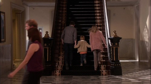 Clay and Quinn wallpaper probably with a street and a drawing room titled One Tree Hill