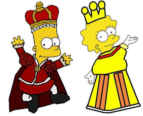 Prince Bart and Princess Lisa