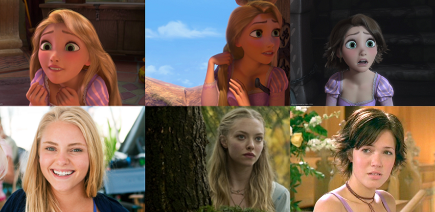 Rapunzel lookalike actrices
