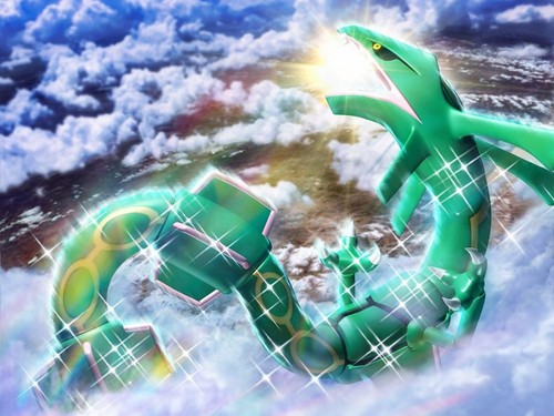 Pokémon wallpaper possibly containing a hard candy and a popcorn titled Rayquaza Wallpaper