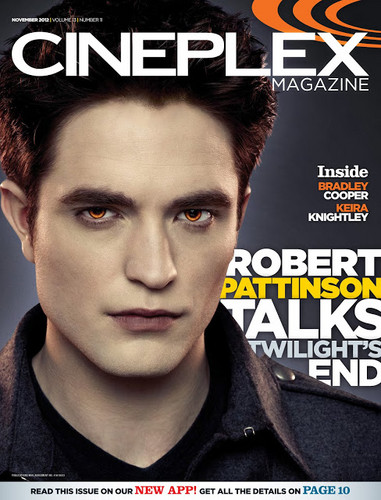 Robert on cover of Cineplex magazine