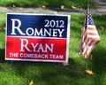 Romney-Ryan Lawn Sign - mitt-romney photo