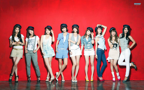 S.M.Entertainment wallpaper probably containing a swimsuit and a bridesmaid entitled SNSD