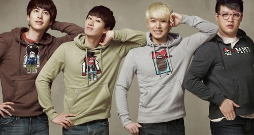 Super Junior hình nền probably with a workwear, a carriageway, and a leisure wear titled SUJU ~SPAO