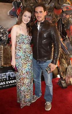 Sarah Bolger (Aurora) and Colin O'donoghue (Captain Hook)