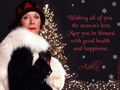 Season's Greetings from Mrs. Bradley - diana-rigg wallpaper