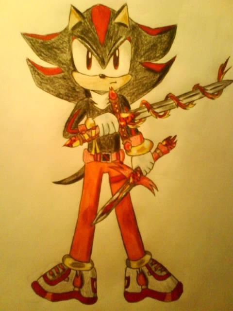 Shadow with a Fire Sword - Sonic the Hedgehog Fan Art ...