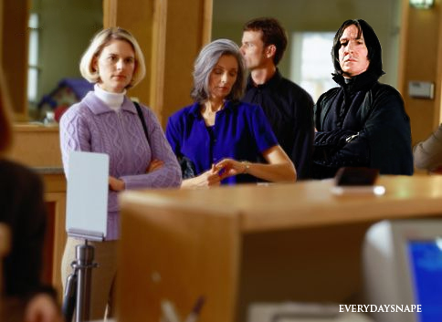 Snape at the bank!