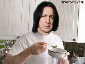 Snape eating breakfest in my kitchen! :)