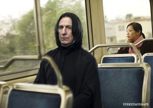 Snape on a bus!