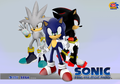 Sonic Next Wallpaper - sonic-shadow-and-silver photo