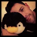Steve with the pinguino cuscino