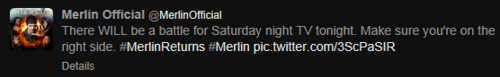 Merlin on BBC photo entitled Support the things that matter in life Merlin fans