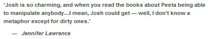 Suzanne Collins and Jennifer about Josh