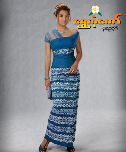 Thet Mon Myint wallpaper titled TMM traditional wedding dress CF