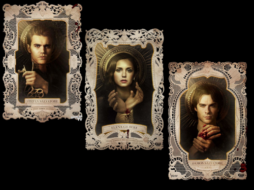 TVD / The Vampire Diaries Damon&Stefan&Elena wallpaper by dodsab