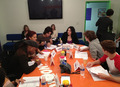 Table Read ; Avan and Ariana sitting next to each other - avan-jogia-and-ariana-grande photo