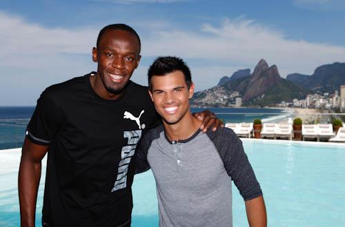 Taylor Lautner and Usain Bolt