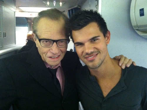 Taylor with Larry King