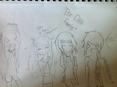 The CAAI family drawing, bro!