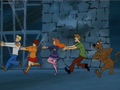 The Gang Flees - scooby-doo photo