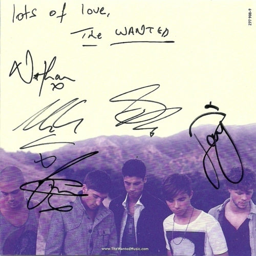 The Wanted Autograph's