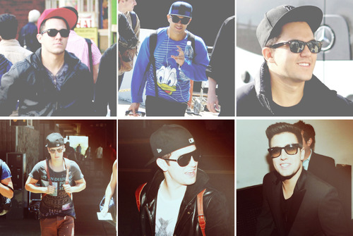 The boys with sunglasses.