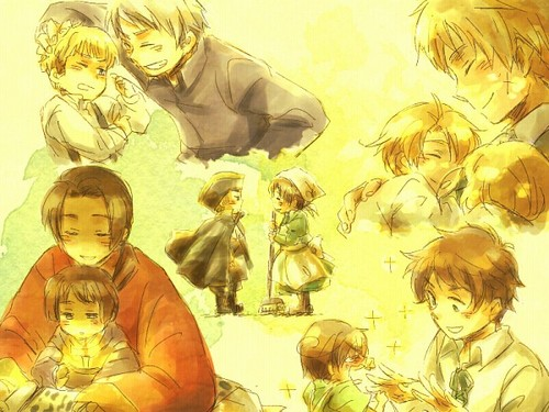 hetalia fondo de pantalla with anime entitled The kids of hetalia