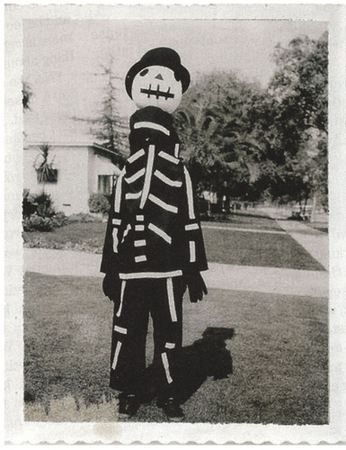 Tim Burton dressed in the costume his mother made him: his inspiration for Jack.