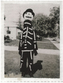 Tim Burton dressed in the costume his mother made him: his inspiration for Jack.  - nightmare-before-christmas photo