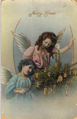 Vintage Рождество Ангелы