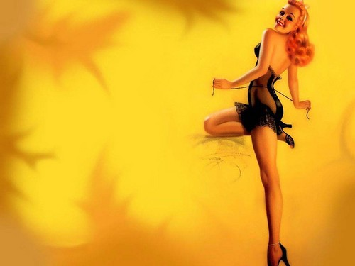 Pin Up Girls wallpaper with a swimsuit called Vintage Pin Up Girls